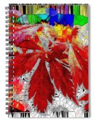 Abstract Fall Acer Stained Glass  Spiral Notebook