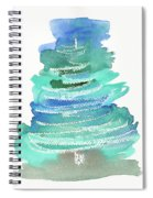 Abstract Fir Tree Christmas Watercolor Painting Spiral Notebook