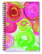 Abstract Flower Crowd Spiral Notebook