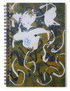 Abstract Human Figure Spiral Notebook