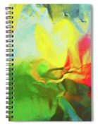 Abstract In Full Bloom Spiral Notebook