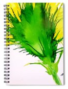 Abstract Ink Yellow Flower Spiral Notebook
