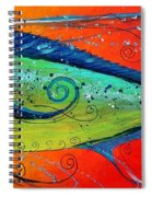 Abstract Mahi Mahi Spiral Notebook