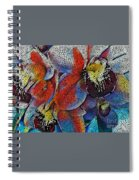 Abstract Orchids.  Spiral Notebook