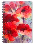Abstract Poppies Spiral Notebook