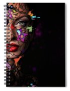 Abstract Portrait No 12 Spiral Notebook