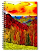 Abstract Scenic 3a Spiral Notebook