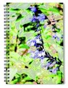 Abstract Summer Garden Spiral Notebook