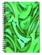 Abstract Waves Painting 0010075 Spiral Notebook