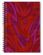 Abstract Waves Painting 0010080 Spiral Notebook
