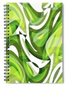 Abstract Waves Painting 0010081 Spiral Notebook