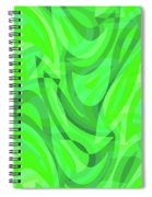 Abstract Waves Painting 0010082 Spiral Notebook