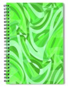 Abstract Waves Painting 0010086 Spiral Notebook