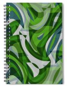 Abstract Waves Painting 0010087 Spiral Notebook