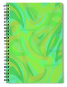 Abstract Waves Painting 0010089 Spiral Notebook