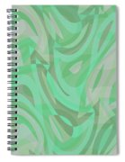 Abstract Waves Painting 0010092 Spiral Notebook