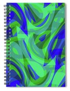 Abstract Waves Painting 0010094 Spiral Notebook