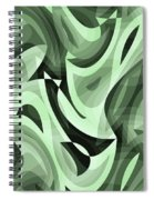 Abstract Waves Painting 0010095 Spiral Notebook