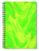 Abstract Waves Painting 0010099 Spiral Notebook
