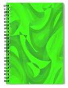 Abstract Waves Painting 0010100 Spiral Notebook
