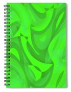 Abstract Waves Painting 0010101 Spiral Notebook