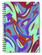 Abstract Waves Painting 0010102 Spiral Notebook