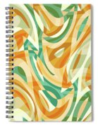 Abstract Waves Painting 0010105 Spiral Notebook