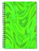 Abstract Waves Painting 0010106 Spiral Notebook