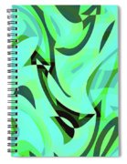 Abstract Waves Painting 0010107 Spiral Notebook