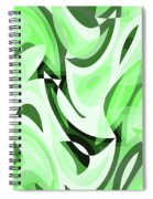 Abstract Waves Painting 0010108 Spiral Notebook