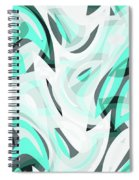 Abstract Waves Painting 0010111 Spiral Notebook