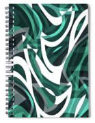 Abstract Waves Painting 0010112 Spiral Notebook