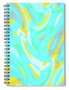 Abstract Waves Painting 0010114 Spiral Notebook