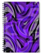 Abstract Waves Painting 0010115 Spiral Notebook