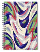 Abstract Waves Painting 0010118 Spiral Notebook