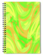 Abstract Waves Painting 007178 Spiral Notebook