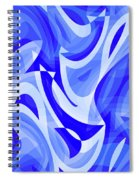 Abstract Waves Painting 007183 Spiral Notebook