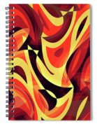 Abstract Waves Painting 007185 Spiral Notebook