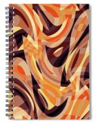 Abstract Waves Painting 007187 Spiral Notebook