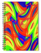 Abstract Waves Painting 007192 Spiral Notebook