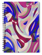 Abstract Waves Painting 007199 Spiral Notebook