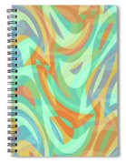 Abstract Waves Painting 007202 Spiral Notebook
