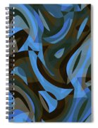Abstract Waves Painting 007203 Spiral Notebook