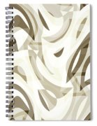 Abstract Waves Painting 007212 Spiral Notebook