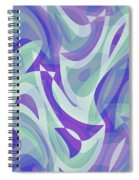 Abstract Waves Painting 007217 Spiral Notebook