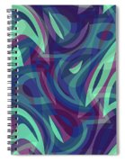 Abstract Waves Painting 007219 Spiral Notebook