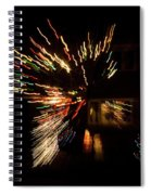 Abstracted Christmas - Luminous Fairy Lights Patterns Spiral Notebook