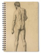 Academic Nude, Seen From The Back Spiral Notebook