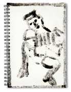 Accordion After Mikhail Larionov Black Ink Painting 1 Spiral Notebook