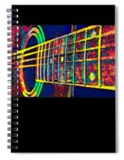 Acoustic Guitar Musician Player Metal Rock Music Color Spiral Notebook